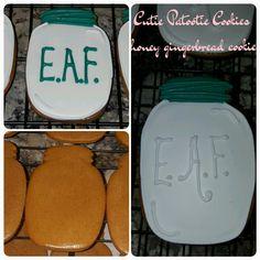 Honey gingerbread mason jars cookies