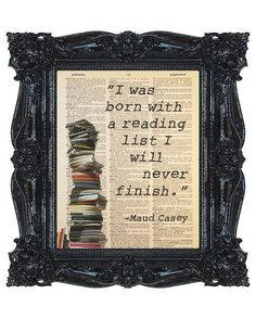 Maud Casey Reading List Quote Dictionary Print, Antique Book Art, Recycled/Upcycled, Old Dictionary Book Page, 8 x 10 Print