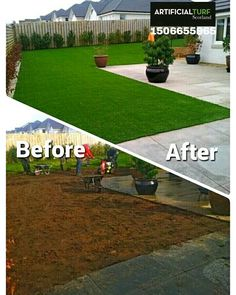 Before and After  Call Us: 01506655965 Or visit our website www.artificialturfscotland.co.uk  #ArtificialTurfScotland #artificial #fakegrass #artificialgrass #astroturf #grass #syntheticgrass #syntheticturf #garden #landscape #gardening #scotlandUK