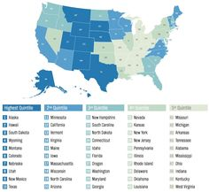 Provided by Business Insider.  The HAPPIEST States to live in....#4 Wyoming and #5 Montana.  See how the happiest States are along the Rocky Mountains, except for ND and SD.  Not sure what is so happy about living in those 2 States!