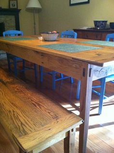 Made entirely from reclaimed barn wood that is 150-200 years old. This Farmhouse Table will serve your friends and family for many generations to come.
