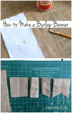 Brush Mod Podge on to edges of Burlap to prevent fraying then cut out burlap when dry.  Perfect No-Fray Burlap Solution!