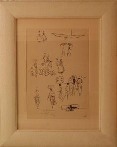 Sem título. 1973. Litografia. Hector Julio Páride Bernabó (Carybé), (Lanús, província de Buenos Aires, Argentina, 07/02/1911 — Salvador, Bahia, Brasil, 02/10/1997).