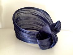 Blue Silk Abaca Upscale Headband Turban