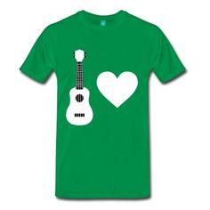 1f7c71ed Ukuleles are cool.Men's T-Shirts, grass green. Love T Shirt,