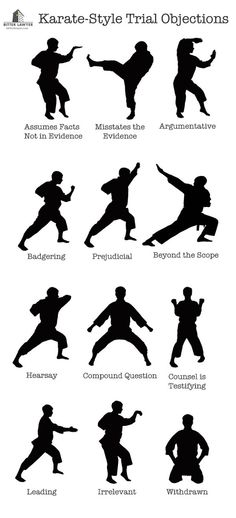 Karate style court objections - too funny      #lawyer #attorney