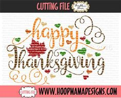 Happy Thanksgiving CUTTING FILE - SVG PNG DFX EPS