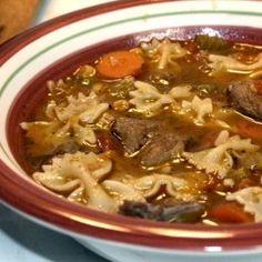 Venison Stew Recipe, you'd swear was home made beef stew Venison Soup Recipe, Elk Stew Recipe, Venison Stew, Stew Meat Recipes, Venison Recipes, Game Recipes, Venison Meals, Crockpot Recipes, Deer Stew