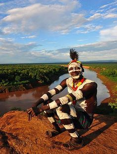 Karo man in Korcho. The Karo are one of the smallest tribes in Ethiopia.
