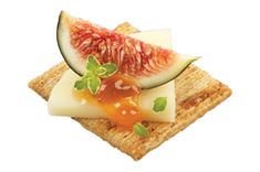 8Brown Rice baked with Sweet Potato TRISCUIT Roasted Sweet Onion Crackers 2oz.Gouda cheese, cut into 8 pieces 1/2fresh fig, cut into 8 p...