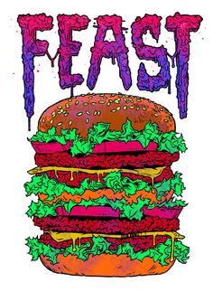 digital junk food themed illustration by lokhaan of a gnarled hand clutching a…