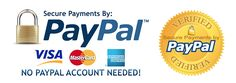 Head 2 Toe Theatrical accepts PayPal secure payments. Choose the way that you want to pay. No PayPal account needed.