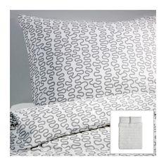 ROSTVIN Duvet Quilt cover with Pillowcase(s). Design and Quality: IKEA of Sweden. Quilt / Comforter / Duvet insert / Pillow (s) - NOT included.