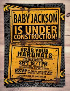 Under Construction Baby Shower invitation by LyonsPrints on Etsy ...