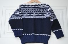 Tradisjons genser i norsk ullgarn, Str 4 år. Tekstiler, Barn, Children, Sweaters, Life, Fashion, Young Children, Moda, Converted Barn