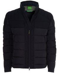 BOSS Green | Jonkins 3 Puffa, Soft Touch Micro Navy Jacket | Lyst