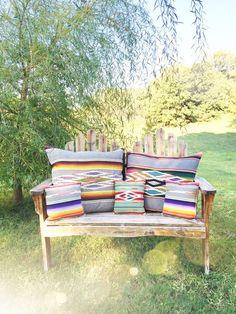 Totem Salvaged Serape Throw Pillow. Boho western home decor