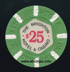 #AtlanticCityCasinoChip of the Day is a $25 Brighton 1st issue AU-UNC you can get here https://www.all-chips.com/ChipDetail.php?ChipID=19386 #CasinoChip #AtlanticCity