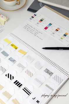 Smart Idea from Creative Mint - an inspiration and sample book. Like that the Washi tape is placed on small hang tags.