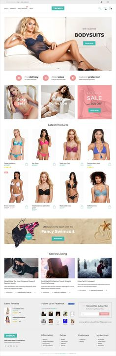 Trendo is a modern design 3in1 minimalist #Opencart theme for #bodysuits #beachwear #lingerie store stunning eCommerce websites download now➩ https://themeforest.net/item/trendo-minimalistic-fashion-store-opencart-theme/18254877?ref=Datasata