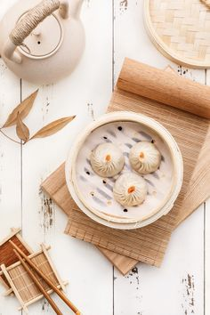 THIS RAINY SEASON ! Make delicious momos with this best quality bamboo steamer. Add herbs to the water and the food will soak up the aromas of the herbs, Enhancing the flavors of your meal. Menu Design, Food Design, China Food, New Years Decorations, Moon Cake, Food Is Fuel, Dim Sum, Food Menu, Japanese Food