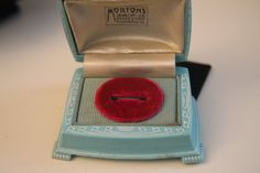 1920s Ring Box by BOARDWALKFINDS on Etsy