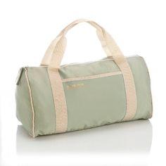 Sac forme polochon en toile Color Bag Bensimon - Vert amande- Vue 1
