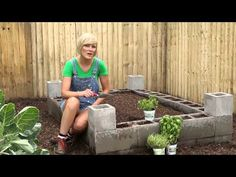 Brilliant Gardening Project: How to Make a Raised Garden Bed Using Cement Blocks - DIY & Crafts