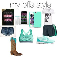 Untitled #49 by emmalou15 on Polyvore featuring polyvore fashion style NIKE Ariat Insten