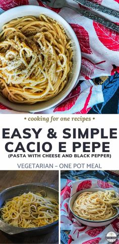 Looking easy Italian recipes? Well, there's nothing easier than this easy Cacio e Pepe pasta recipe! It literally takes as long as cooking your pasta and it is so delicious! #cookingforone #30minutemeals #singleserving #recipeforone #foodrecipe #pastarecipe #dinnerideas #vegetariandish | italian meals | italian dinner recipes | best italian dishes | dinner recipes italian | italian dinner | italian dish | italian easy recipes | easy italian dinner | easy italian recipes | Vegetarian dish…