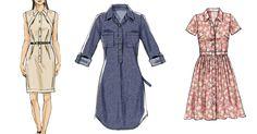 Shirtdress sewing patterns by McCall Pattern Company