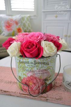 Summer Roses - Vintage Cottage Home Decor