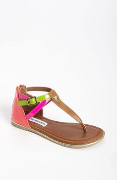 Steve Madden 'Vawlt' Sandal (Toddler, Little Kid & Big Kid) available at #Nordstrom little girl sandals. Little girl fashion. Little girl style. Little fashionista.