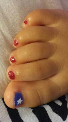 Baby patriotic nails