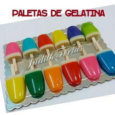 Paletas de gelatina. Por: @JudithTortas. Vzla.