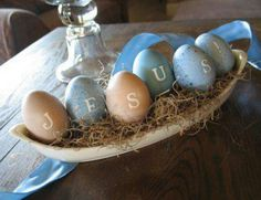 holiday, season, jesus, easter crafts, easter decor, pastel colors, easter eggs, easter centerpiece, easter ideas