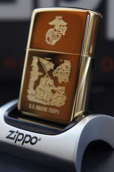 ZIPPO LIGHTER 24Ct GOLD PLATED US GOLDEN MARINE CORPS COMMEMORATIVE  RARE & UNUSUAL ZIPPO LIGHTERS, CASES, AND ACCESSORIES  From easyonthewedge2011