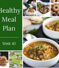 Healthy Weekly Meal Plan – Week 40