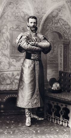 ..♥♥♥♥♥.. Grand Duke Sergei Alexandrovich of Russia dressed in a XVII century Russian costume for the Romanov Imperial Ball, April 1903....058 by klimbims on deviantART..♥♥♥♥♥..