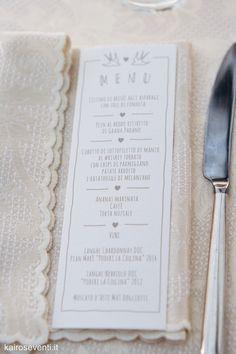 Il menù. Wedding designer & planner Monia Re - www.moniare.com | Organizzazione e pianificazione Kairòs Eventi -www.kairoseventi.it | Foto Oscar Bernelli