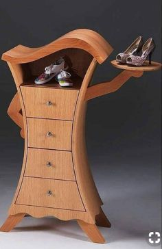 A unusual design but it stands out amongst the average chest of drawers. Build your own home furnishings with an extensive range of unique designs. Estilo Kitsch, Cool Wood Projects, Bandsaw Box, Cupboard Shelves, Build Your Own House, Smart Furniture, Furniture Ideas, Plan Design, Dream Rooms