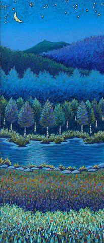 Crescent Moon Birches – Daryl V. Storrs Artworks