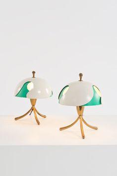 Angelo Lelli Paire de lampes