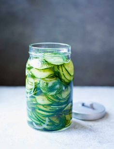 Refrigerator Sweet Pickles Recipe (This refrigerator sweet pickles recipe makes a Scandinavian-style pickle that's subtly perfumed with dill, distinctly sweet, and just a little sour. It's so simple it doesn't even require turning on the stove during those desperate dog days of summer.)