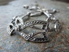 Art Deco Sterling Marcasite Bracelet