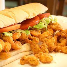 Louisiana Shrimp Po Boy Sandwich and other Po Boy recipes