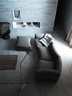 Living Room Modular Sofa RIVER by Saba Italia Design Sergio Bicego