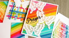 cardmaking video tutorial: Rainbow Cards with Scraps ... gorgeous cards by Jennifer McGuire ... lots of technique tips too ...