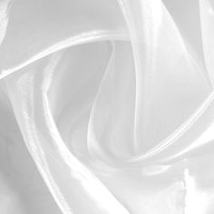 Angel Wings Organza White Fabric