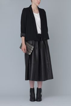 Leather coulottes? Yes, please. Acne Chime Leather Pants (Black Noir)